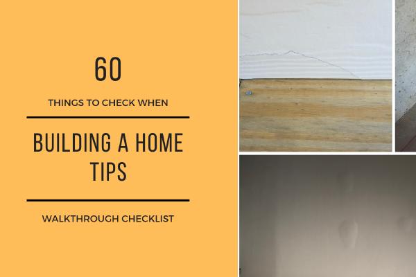 Home Building Warranty Checklist