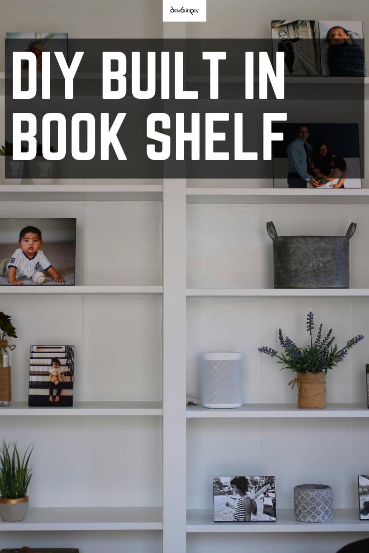 DIY Built-In Shelves using Ikea Billy Bookcase Hack